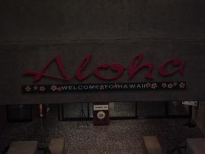 Aloha sign at Airport