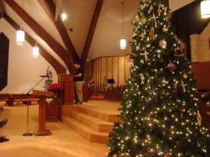 Paul leading music