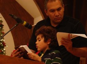 Abraham reading