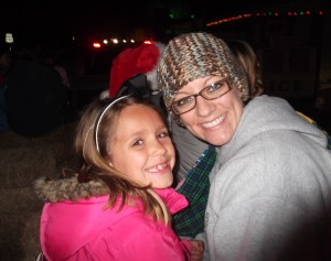 Hanna and me on the hayride