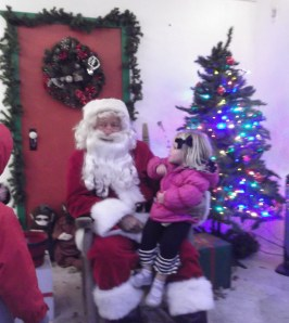 Henlee talking to Santa