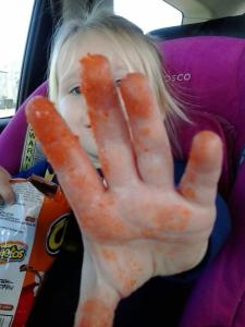 Cheeto fingers!!!