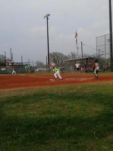 "This is Hanna batting during her ""machine pitch"" game"