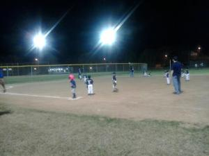 This is a T-ball game on Tuesday night