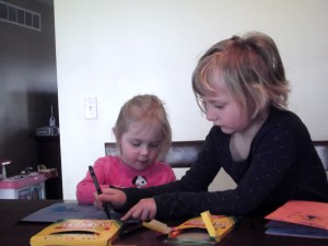 Rebecca coloring with Andi