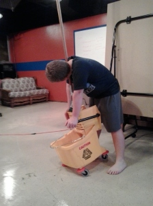Walker mopping