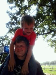 Walker and Mason (the little ones LOVE Walker)