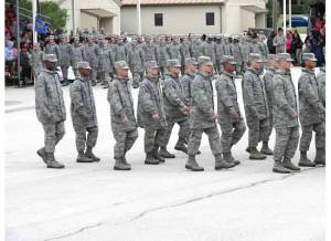 the day before graduation in their fatigues