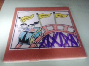 coaster (one of our VBS crafts)