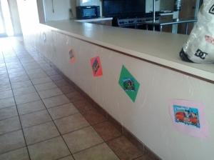 underneath kitchen counter