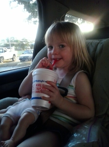 "our ""Slumber Party"" started with a slush from Sonic"