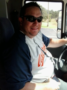 our amazing (and strikingly handsome) bus driver!