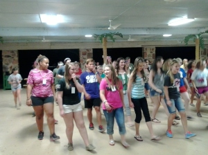 dancing at the Block Party