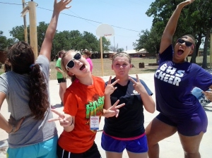 M.S. girls being silly during Rec Time