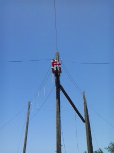 Lillie at the top of the Zipline