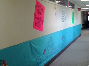 the hallway in the Children's wing