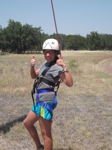 Melissa ready for the Leap of Faith