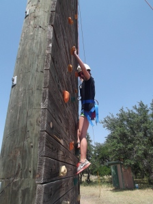 Morgan on the Climbing Wall