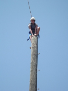 Melissa on the top of the Leap of Faith