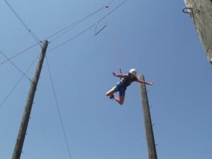 She's flying down!