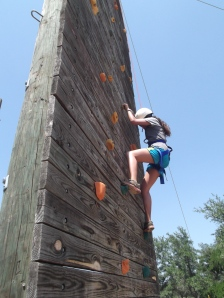 Melissa on the Climbing Wall