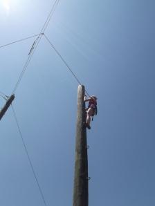 Victoria climbing up