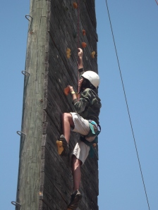 Adara on the Climbing Wall
