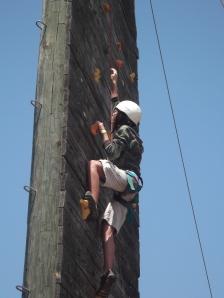 Adara on the Climbing Wall