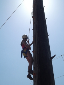 Victoria on the Climbing Wall