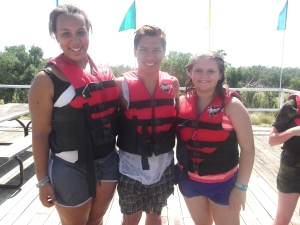 Jasmine, Dominick, and Macie about to blob