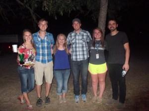 Jaycie, Dana, and Victoria with the Nick Gainey band.