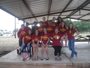 our whole group from Youth Camp 2013