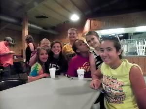 Lauren, Lillie, Morgan, Macie, Jasmine, Victoria, and Emilie