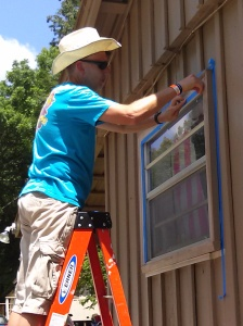 Tim taping windows