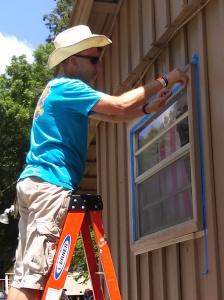 Tim taping windows