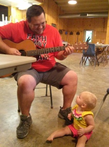 "Paul and Aubrey having a ""jam session"""