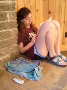 Brittanie reading hers