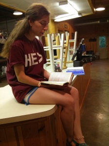 Brittanie reading out of God's Word