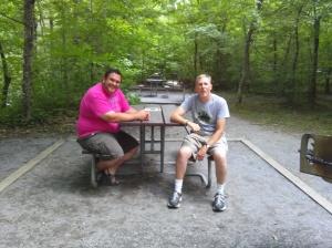 Paul and Tim visiting