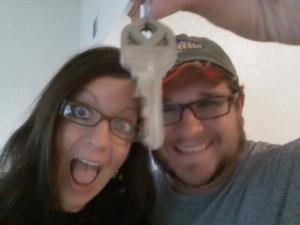 We got keys!! :) Thursday morning