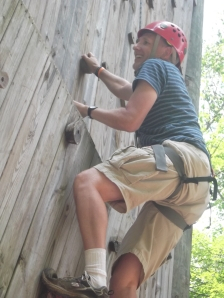 Tim climbing