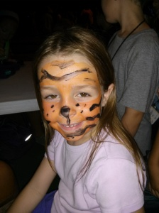 "Sierra and her ""tiger"" face"