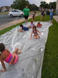 fun on the slip n slide