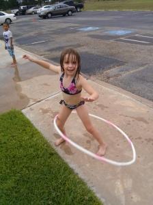 Sierra showing me the hula-hoop