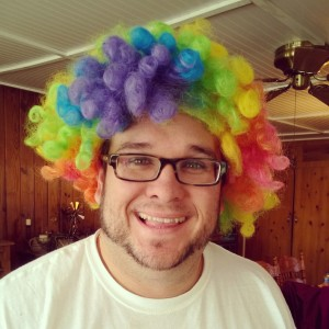 And, why did he have a clown wig?