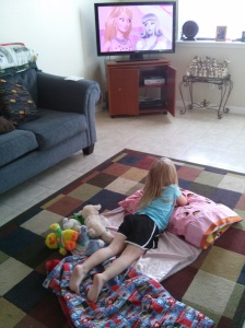 Watching a little Barbie: Dream House