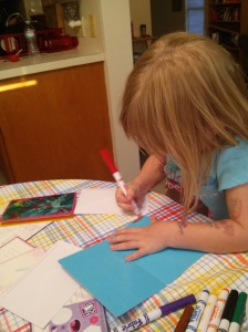 """""""writing"""" letters"""