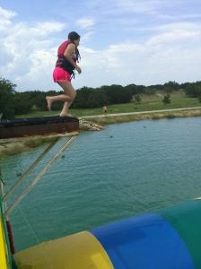 Taylor about to jump