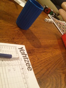 playing Yahtzee