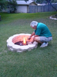 preparing the campfire
